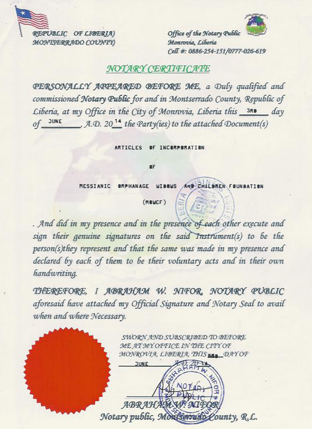 Notary-Certificate