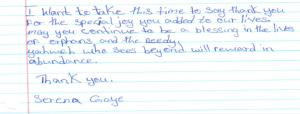 An Orphan Letter